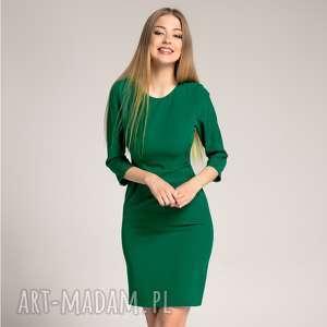 Sukienka ołówkowa Sara Szmaragdowa, ołówkowa-sukienka, dopasowana-sukienka