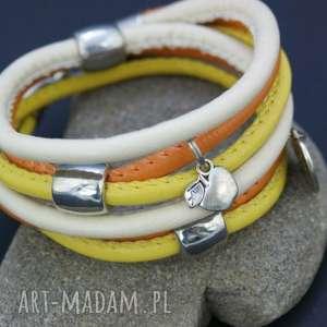 ręcznie zrobione bransoletka owijana kolorowa