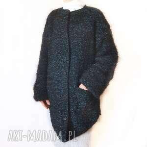 sweter -żakiet handmade, robiony na drutach /4/, sweter, żakiet, płaszcz