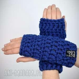rękawiczki 11 - ultramaryna (mitenki rakawiczki, prezent komplet, zestaw zima)