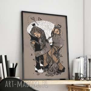 oryginalna ilustracja - duży format 100x70 - plakat, dom, salon, kuchnia, obraz
