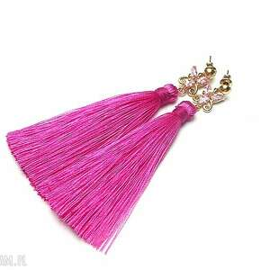 boho /butterfly/ - hot pink /15 -05 -19/ kolczyki