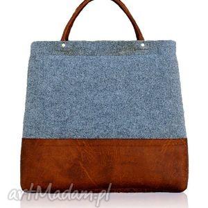 ręcznie robione torebki shopper bag simple nude