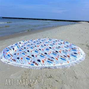 dla dziecka dwustronna mata koc dywanik fik 150 cm piórka, mata, ręcznik, plaza