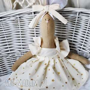 Pani królik z wyszytym imieniem maskotki peppofactory lalka