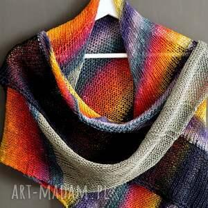 ręcznie wykonane szaliki chusta linen colorful birds