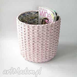 zapleciona kosz eko - pink, dom, oryginalny prezent