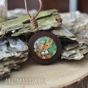 Naszyjnik regulowany z wisiorkiem woody ptak folk naszyjniki