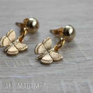 kolczyki motylki, motyle, sztyfty, wkrętki, mini-motyle, kolczyki-motylki