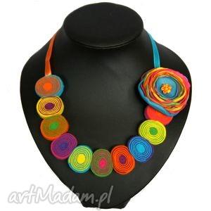 multiwitamina - lorale z filcu, filc, korale, naszyjnik, kolia, biżuteria, prezent