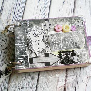 handmade scrapbooking notesy notes i szkicownik z sówką:)