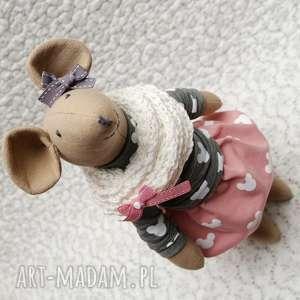 Starsza siostra bliźniaczka, myszka, szczurek, roczek, chrzest, rękodzieło, maskotka