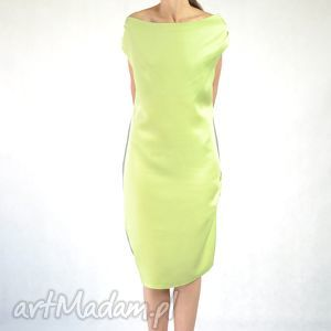 nah nu sanni - sukienka, ostatnie 2 sztuki, koktajlowa, dzienna, praca, limonka
