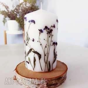 dekoracje świeczka niezapominajki, świeca, świeczka, leśna, kwiaty