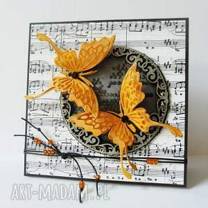 z motylami - w pudełku - ślub, życzenia, rocznica, zaproszenie, urodziny