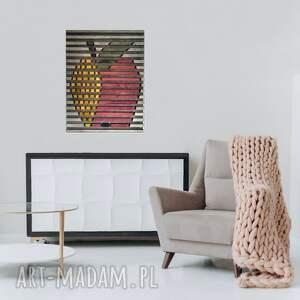 obraz z drewna, dekoracja ścienna /55 - jabłko/