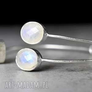 KAMIEŃ KSIĘŻYCOWY 925 srebrna bransoletka - ,kamień,mierał,925,srebro,srebrny,prezent,