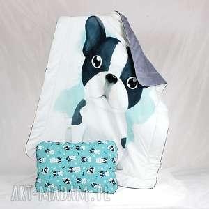 Zestaw do łóżeczka kocyk i płaska poduszka buldog pokoik dziecka