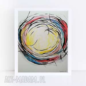 abstrakcja-akwarea formatu 18/24