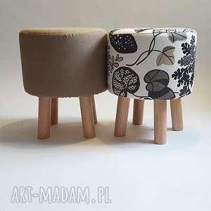 pufa mleczna czekolada - 36 cm, puf, taboret, hocker, vintage, puff, stołek