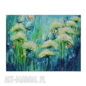 polne kwiaty, łąka /10/ obraz ręcznie malowany, obraz, ręcznie
