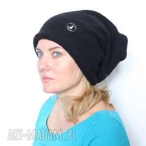 czapka damska męska unisex - czapka, welna, dzianina, mama, unisex, dresowa