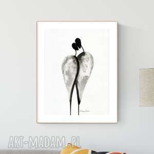 Grafika 30x40 cm wykonana ręcznie, abstrakcja, elegancki