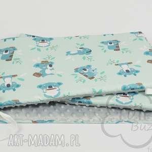 ręczne wykonanie pokoik dziecka ochraniacz do łóżeczka miętowy
