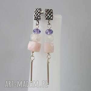 lollipop, srebro, moonstone, księżycowy, szyfty, długie, opal