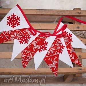 dekoracje idą święta girlanda w stylu scandi, świąte, świąteczny, scandi