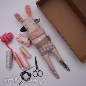 maskotki siostra szi różowo kwiatowa - zabawka hand made, przytulanka, misiu