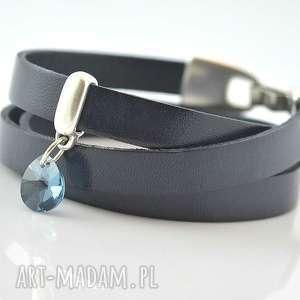 handmade bransoletka z rzemieni joyee triple cristal jeans