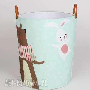ręcznie zrobione pokoik dziecka ogromny pojemnik z misiem i królikiem