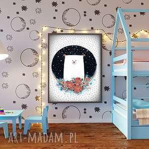 Miś a3 pokoik dziecka malgorzata domanska plakat, grafika