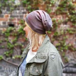 ręcznie wykonane czapki czapka dzianinowa wiosenna ręcznie farbowana
