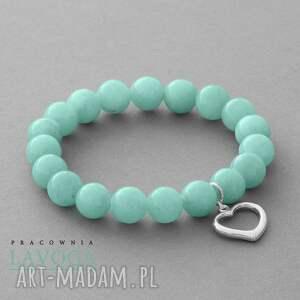 Jade with pendant in mint. - ,zawieszka,jadeit,serce,