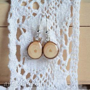 """""""prosto z drzewa"""" - wiszące kolczyki drewna my piece of wood"""