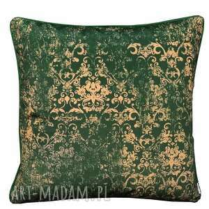 poduszka welur ornament zieleń 45x45cm, welurowa, welur
