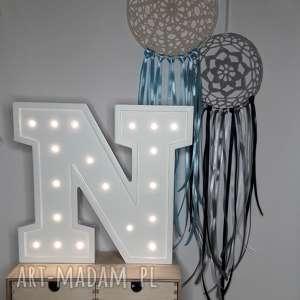 podświetlana literka n - lampka, lampa, litera, literka, typografia