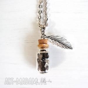 handmade naszyjniki naszyjnik - czarny szklana fiolka