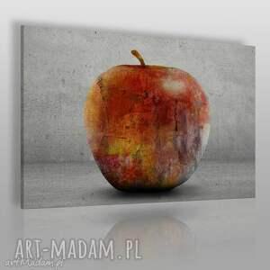 obraz na płótnie - jabłko owoc 120x80 cm 46101 , jabłko, owoc, beton, martwanatura