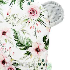 poduszka miŚ kwiaty szary - poduszka, dziecko, wózek, łóżeczko