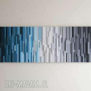 dekoracje mozaika 3d, obraz drewniany arktyka na zamówienie, wallart