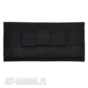 03-0004 Szaro-brązowa torebka kopertówka wieczorowa do ręki CROW, ekskluzywne