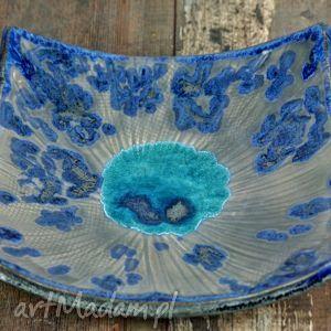 ceramika patera ceramiczna silver blue, patera, talerz, misa, srebro, naczynie