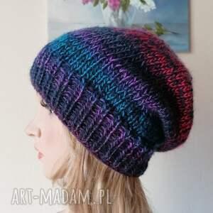czapki z jagodami czapka, rękodzieło, bezszwowa czapka na druta, ręcznie