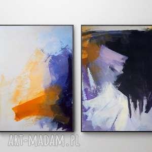 Abstrakcje purple dom galeria alina louka duży obraz abstrakcja