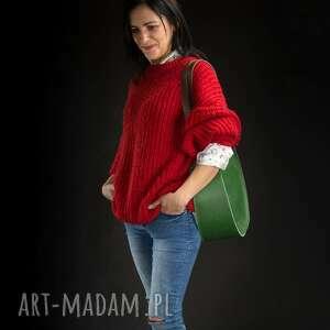 stylowa torba na ramię lub ręki od ladybuq art w kolorze zielonym rozmiary m