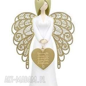 ręcznie robione dekoracje anioł optymista 15,5 cm you are an angel