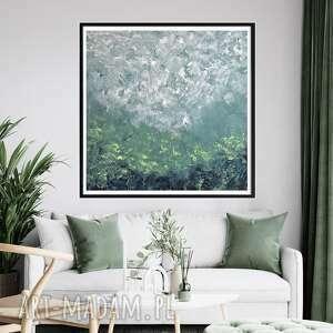 obraz ręcznie malowany 90x90, abstrakcyjny, akryl na płótnie, nowoczesny